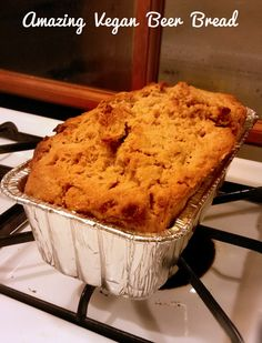 Vegan Beer Bread Recipe: Golden craggy crust, and moist, buttery interior--what could be better?- Peaceful Dumpling