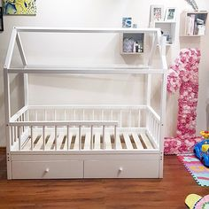 Each Koga Kids house-bed is handcrafted with care about its future owner's com… – Wood Workings . Baby Bedroom, Baby Room Decor, Girls Bedroom, House Beds For Kids, Kid Beds, Montessori Bed, Deco Kids, Bed With Drawers, Toddler Rooms