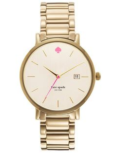 kate spade gramercy grand watch in gold