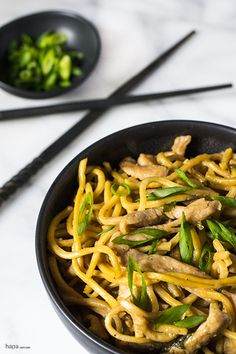 Pork Lo Mein is one of my favorite dishes from childhood. When we went out to eat, we always ordered a lo mein dish! Delicious chewy noodles, pork-tastic goodness, some yummy veggies, all tossed in an umami-rich brown stir-fry sauce… om, nom, nom, nom!