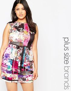 Plus Size Printed Body-Conscious Dress