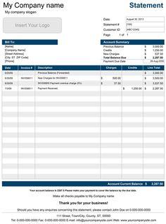 statement of account templates 12 free docs xlsx pdf invoice format