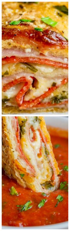 Classic Stromboli ~ Easy Dinner or Quick Appetizer... Stromboli is basically pizza that's been rolled up like a cinnamon roll.