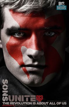 'Hunger Games': Peeta Dons His War Paint In This Exclusive 'Mockingjay' Poster