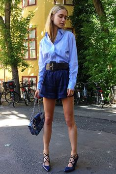 Shades of Blue   Street Style   TheyAllHateUs