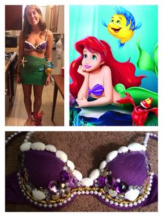 DIY Halloween costume. The little mermaid.