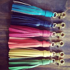 Leather Tassel Keychain! Amazing keychain, bag accessory or gift for anyone!