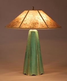 """Six-Sided Lamp in Celery Glaze""  Ceramic Table Lamp    Created by Jim Webb"
