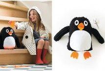 knutselen met kinderen - volledig pakket om pinguin te haken via Piece of Make DIY #knutselen #haken #knuffels #pinguin
