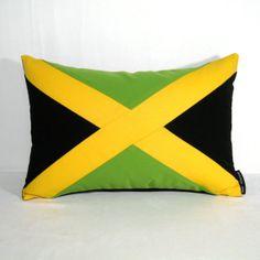 Jamaica Flag Pillow Cover