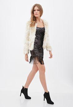 Sequined Fringe Cami Dress | FOREVER21 - 2000058339