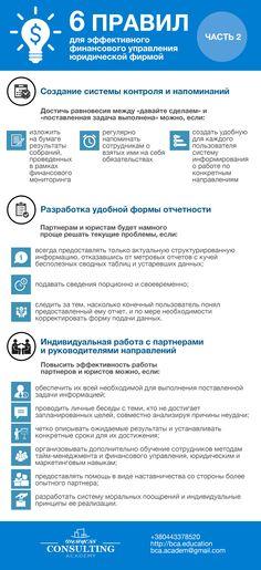 Продолжение инфографики. 6 правил для эффективного управления юридической фирмой