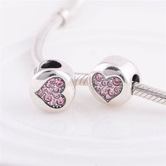 Solid Authentic  Sterling Silver 925 Heart Charm with by charms925, €12.45