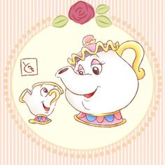 Mrs. Potts and Chip from Disney's Beauty and the Beast