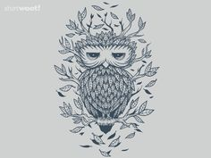 Nature Owl for $18 - Yay for shirt.woot owls!
