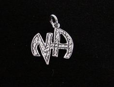Sterling Silver Narcotics Anonymous NA Black Scratched Logo 12 Step Recovery | eBay