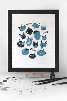 Kitties Screen Print on Behance