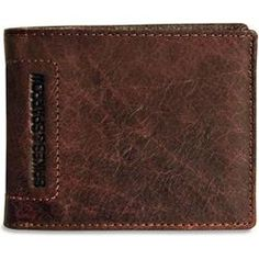 "This Spikes & Sparrow Collection Bi-Fold wallet is hand crafted from strong and durable vegetable tanned buffalo leather with a washed finish effect. The leather is resilient and will increase in character and look more beautiful as it ages.  Features      Slots for 5 credit cards     An ID window     A double pocket to hold currency     Slip pockets to hold receipts, notes, etc.     Available in brown     Dimensions: 4 3/8"" x 3 1/2""     Metric: 11.1 x 8.9 cm"
