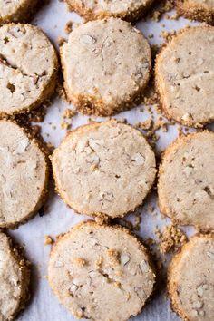 Slice N Bake Vanilla Brown Butter Pecan Cookies…Dipped in Chocolate   halfbakedharvest.com @hbharvest