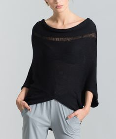 Another great find on #zulily! Marcella Moda Black V-Back Sweater by Marcella Moda #zulilyfinds