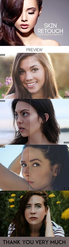 Skin Retouch Photoshop Actions Vol 2 by CreativeWhoa on @creativemarket