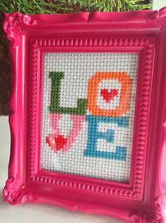 Valentine's Day Craft Idea - free cross-stitch pattern makes a sweet gift | Storypiece.net