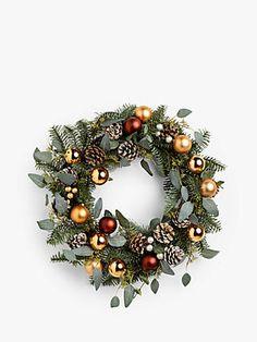 Christmas Wreaths & Garlands | John Lewis & Partners