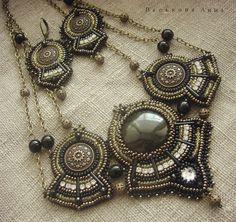 VA bead jewelry. Украшения ручной работы, вышивка бисером, натуральные камни