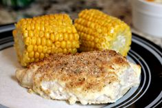 OMG Chicken - (parmesan crusted chicken) only 4 ingredients and less than half an hour to cook.