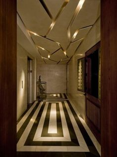 Impressive Tips: False Ceiling Modern For Kids wooden false ceiling living rooms.False Ceiling Modern For Kids false ceiling kitchen basements.False Ceiling With Wood Ideas. Design Hotel, Restaurant Design, Decoration Faux Plafond, Hallway Decorating, Interior Decorating, Floor Design, House Design, Design Room, Wall Design