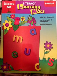 The Mailbox Literacy Learning Mats Preschool #TeacherResourceBookLearningCenters Starting Bid Only $5.00 or BUY IT NOW for Only $6.50