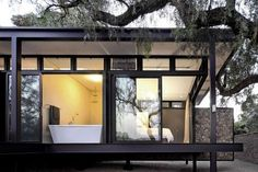 Casa de un piso con estructura de acero