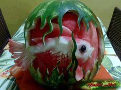 WWW.NOSITEDAFESTA.COM.BR: Decoração com frutas: bichinhos em melancias