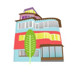 Casa-Museo La Sebastiana (Valparaiso, Chile #neruda #pabloneruda #lasebastiana #Chile #Chilean #illustrator #illustration #house #draw