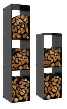 23 Ideas wood storage ideas firewood rack living rooms for 2019 Rustic Outdoor Decor, Firewood Rack, Indoor Firewood Storage, Wood Store, Black Shelves, Types Of Furniture, Fireplace Design, House, Home Decor