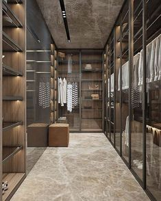 Custom closet for narrow space (@adesignersmind)
