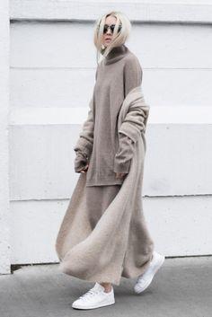 #layers #gray #turtleneck #knit
