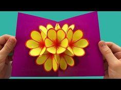 Comment faire une Carte Pop Up: Fleur. Idée bricolage - 3D - Bricolage fetes des mères - YouTube