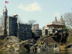 Belvedere Castle at Central Park, Castillo Belvedere en el Parque Central en New York, EEUU