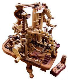 Marble Machine 2011 More Woodworking Toys, Cool Woodworking Projects, Wood Projects, Projects To Try, Marble Runs, Marble Maze, Rolling Ball Sculpture, Marble Tracks, Marble Machine