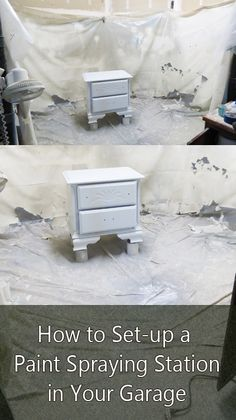 How to set up a paint spraying station in your garage.