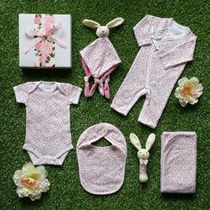 Spring is in the air with this gorgeous baby girl hamper. With its spring blossom design baby clothing this baby hamper will make the perfect new baby girl hamper. Baby Gift Hampers, Baby Hamper, New Baby Girls, Baby Girl Gifts, Spring Blossom, Baby Design, Corporate Gifts, New Baby Products, Collection