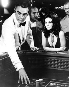 Sean Connery as James Bond, a gambling spy with a cruel streak and an unforgettably powerful machismo