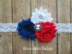 4th of July Headband Fourth of July by HarperSophiaBoutique, $10.99