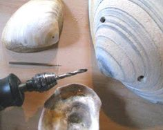 How to drill holes in seashells so you can use them for jewelry, curtain accents, etc.