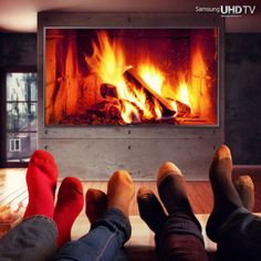 Samsung Ultra HD 4K Television fire place Via Twitter