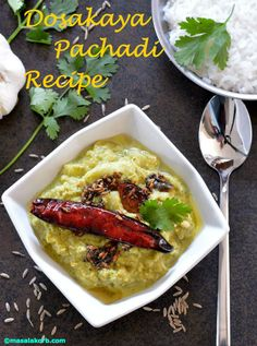 Dosakaya pachadi recipe is a traditional chutney recipe from Andhra cuisine withdelightful combination of flavours form spicy to tangy.