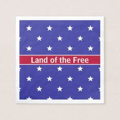 Patriotic Red White and Blue Paper Napkins - independence day 4th of july holiday usa patriot fourth of july