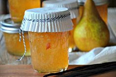 Fragrant vanilla beans set this pear jam apart and spread on a piece of toasted seedy bread, this Pear Vanilla Bean Jam is down right swoon worthy. Admittedly, I'm am a vanilla bean junkie; Jam Recipes, Canning Recipes, Diy Cadeau Noel, Pear Jam, Sauces, Jam And Jelly, Spice Mixes, Food Gifts, So Little Time