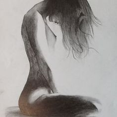 Waiting for the Angels Female Drawing, Female Art, Sexy Drawings, Art Drawings, Figure Painting, Figure Drawing, Exotic Art, Life Drawing, Pictures To Draw